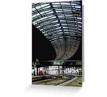York Train Station Greeting Card