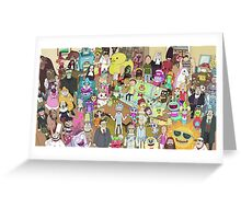 Rick and Morty Greeting Card
