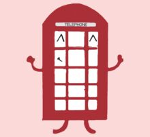 Cartoon Telephone Box One Piece - Long Sleeve