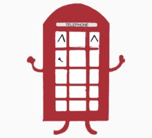 Cartoon Telephone Box by Zozzy-zebra