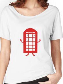 Cartoon Telephone Box Women's Relaxed Fit T-Shirt