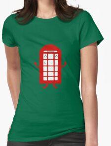 Cartoon Telephone Box Womens Fitted T-Shirt