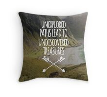 Unexplored Paths All-Over Throw Pillow