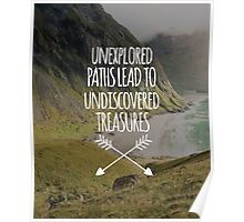 Unexplored Paths All-Over Poster