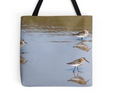 Sandpipers on New Gale Beach Pembrokeshire Tote Bag