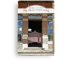 Devils Plate Saloon entry Canvas Print
