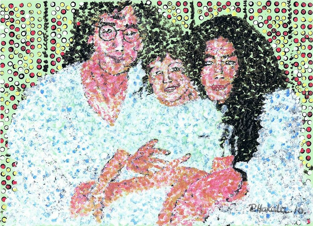 John and Yoko and Baby by George Coombs