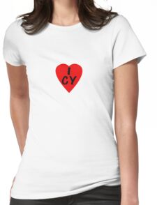 I Love Cyprus - Country Code CY T-Shirt & Sticker Womens Fitted T-Shirt