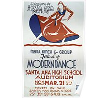 WPA United States Government Work Project Administration Poster 0356 Myra Kinch and Group Festival of Modern Dance Poster