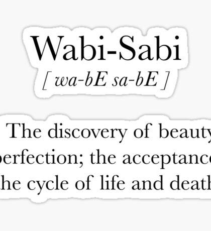 Wabi-Sabi Sticker