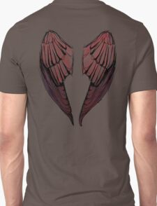 Wings in red - back of shirts Unisex T-Shirt