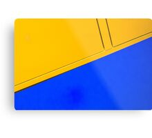 Abstract in blue and yellow Metal Print