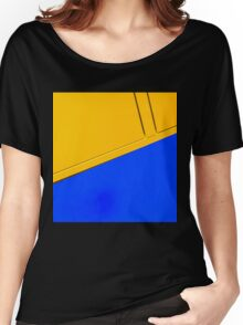 Abstract in blue and yellow Women's Relaxed Fit T-Shirt