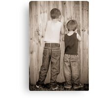 Peeping Canvas Print