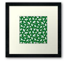 Green Ginkgo Leaves Framed Print