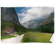 Living in the Mountains. sLOVEnian paradise.  Poster