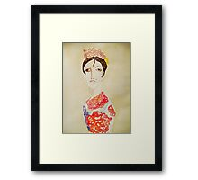 spanish woman with cigarette Framed Print