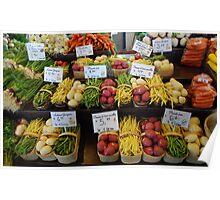 Vegetables in basket Poster