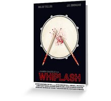 Whiplash film poster Greeting Card