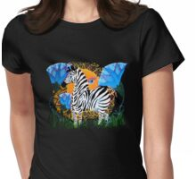 The African Zebra Womens Fitted T-Shirt