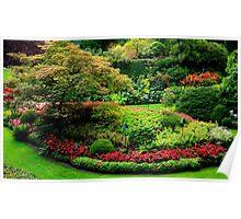 Butchart Gardens Poster