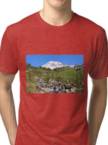 Beauty And The Beast - Mount Rainier Streaming Down Tri-blend T-Shirt