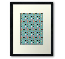 Sweet sweets (turquoise background) Framed Print