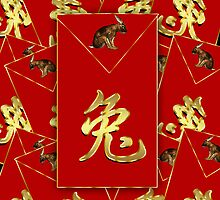 Chinese New Year - Red Envelope - Year Of Rabbit  by Moonlake