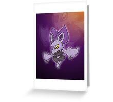 Lavender Bat  Greeting Card