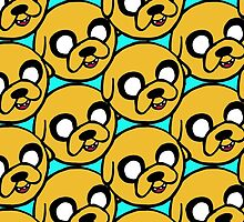 Jake the Dog Sketchy Pattern by Elys XXI