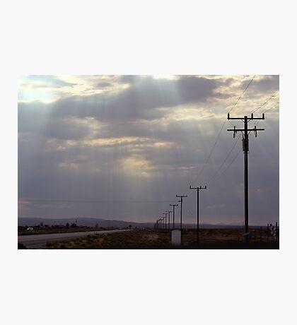 Route 58 at Boron, California Photographic Print