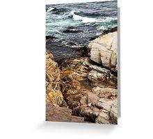 Rocks - Point Judith Greeting Card