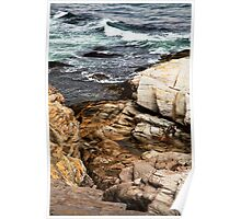 Rocks - Point Judith Poster