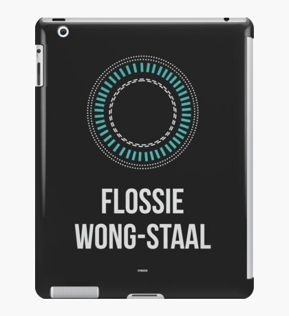 FLOSSIE WONG-STAAL (Light Lettering) - Clothing & Other Products iPad Case/Skin