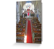 St Mary's Teynham - nave Greeting Card