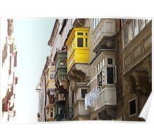 Balconies of Valletta 1 Poster