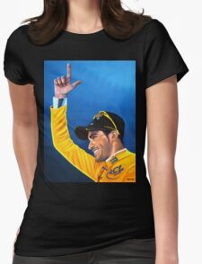 Alberto Contador painting Womens Fitted T-Shirt
