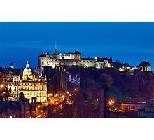 Edinburgh At Dusk Photographic Print