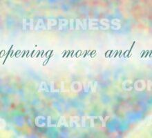 Inspirational Subliminal Art - Heart Chakra Opening Blue - Affirmations Sticker