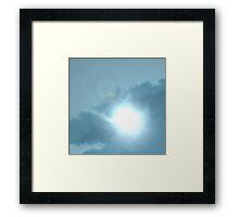 Scattered thunder storms. Framed Print