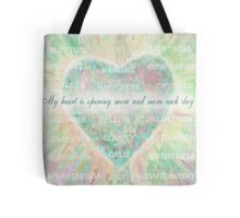 Inspirational Subliminal Art - Heart Chakra Opening - Affirmations Tote Bag