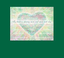 Inspirational Subliminal Art - Heart Chakra Opening - Affirmations Unisex T-Shirt