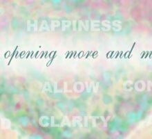 Inspirational Subliminal Art - Heart Chakra Opening - Affirmations Sticker