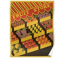 WPA United States Government Work Project Administration Poster 0891 Fruit Store Poster