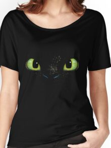 Toothless fiery eyes Women's Relaxed Fit T-Shirt