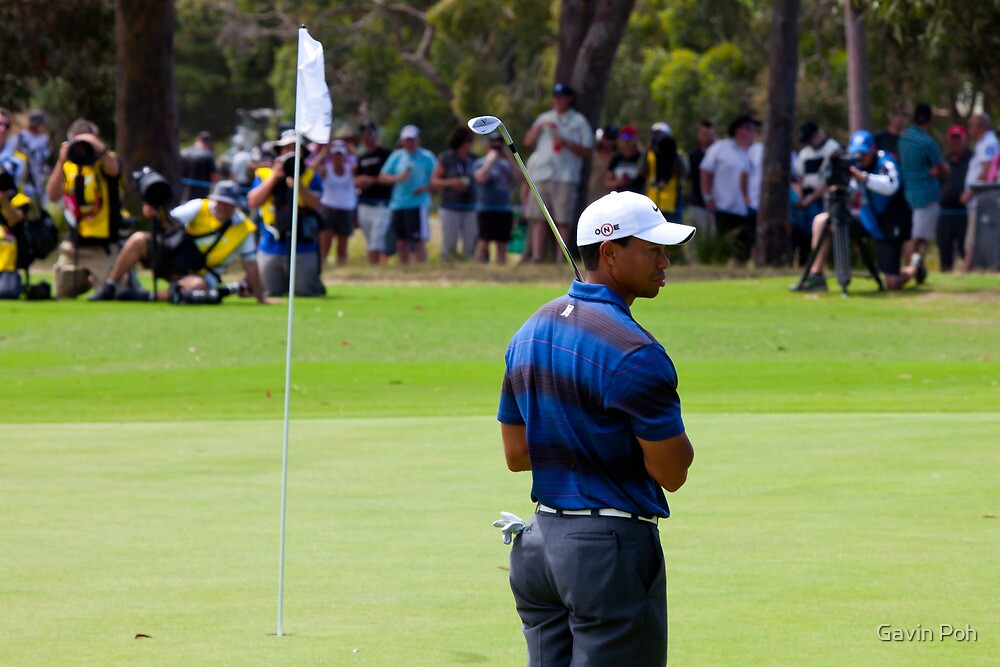 Tiger woods in Aus by Gavin Poh