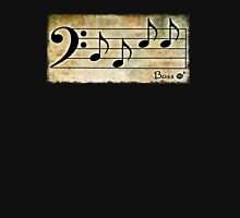 BASS Words in Music Earthy Background - a V-Note Creation Unisex T-Shirt