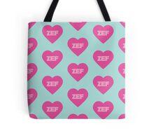 Zef Pattern Pink & Blue Tote Bag
