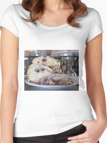 Red Raspberry Scones Women's Fitted Scoop T-Shirt