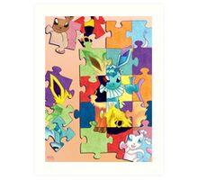 Eeveelution Puzzle Art Print